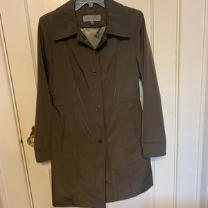 Anne Klein coat gray polyester toggle closures S